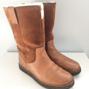 Clark's Glik Elmfield Tan Combi boots